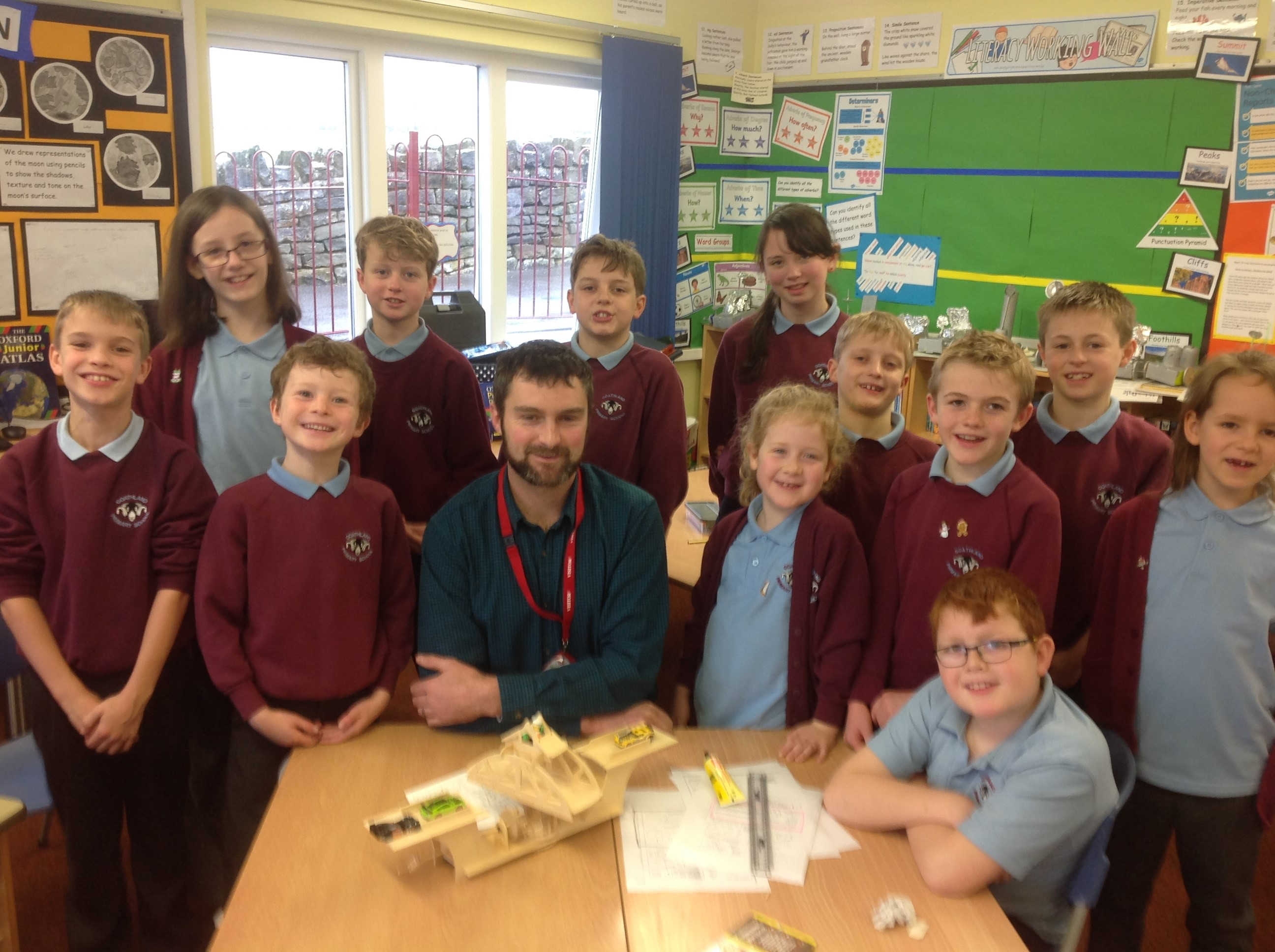 School Governor, Angus Nicholson, visited school in December. He worked with Base 2 building a model swing bridge similar to the bridge in Whitby harbour.
